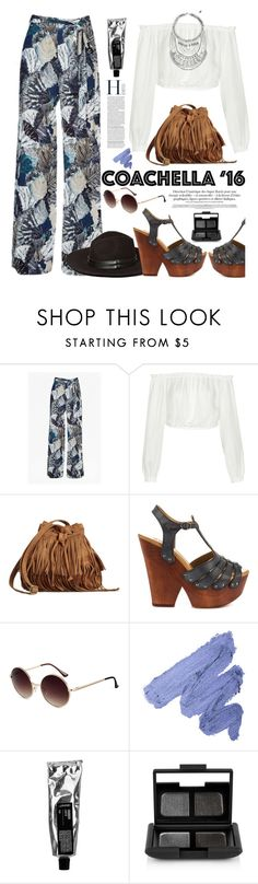 """Pack for Coachella!"" by hamaly ❤ liked on Polyvore featuring French Connection, Elizabeth and James, Mojo Moxy, NARS Cosmetics, coachella, bohemianstyle and packforcoachella"