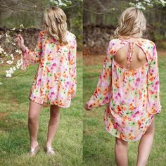 Sweet Flower Child  Shop this floral bell sleeved beauty at the commerce store today! #shopPD #floral #flowerchild #colorful #bellsleeves