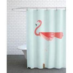 Rideau de Douche Design Motif Animaux - Flamingo