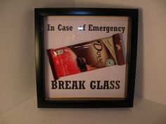 Christmas In case of emergency break glass shadow box gifts