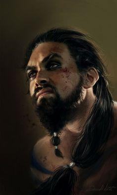 Ania Mitura DalisaAnja deviantart ilustrações fantasia sombria Game of Thrones - Khal Drogo                                                                                                                                                                                 Mais