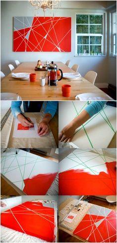 12 Hele leuke zelfmaak ideetjes voor mooie kunst aan je muur!