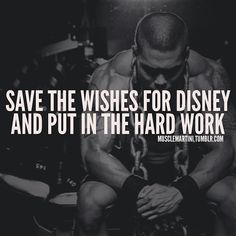 Fitness: hard work and dedication