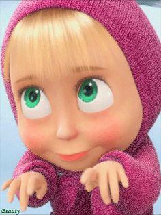 Машенька - анимация на телефон от beauty №1115114 Gifs, Marsha And The Bear, Cute Cartoon Pictures, Free Cartoons, Face Expressions, Cute Cartoon Wallpapers, Cute Gif, Drawing Sketches, Walt Disney