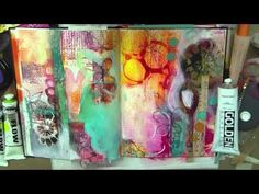 Although her style is a bit much for me it is fun to watch her process.    art journal + mixed media PLAY by traci bautista