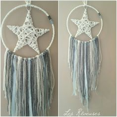 Etsy - Shop for handmade, vintage, custom, and unique gifts for everyone Yarn Crafts, Diy And Crafts, Arts And Crafts, Sun Catchers, Dream Catcher Mobile, Star Diy, Craft Projects For Kids, Crochet For Boys, Diy Hanging