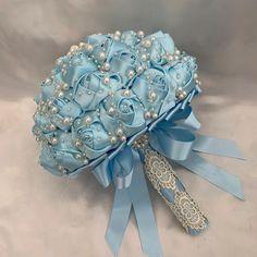 Hand Bouquet Wedding, Pearl Bouquet, Broach Bouquet, Bride Bouquets, Rose Bouquet, Wedding Flowers, Paper Flower Backdrop Wedding, Satin Roses, Elegant Bride