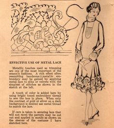 The Midvale Cottage Post: Home Sewing Tips from the 1920s - Great Tip for a New Year's Eve Party Frock