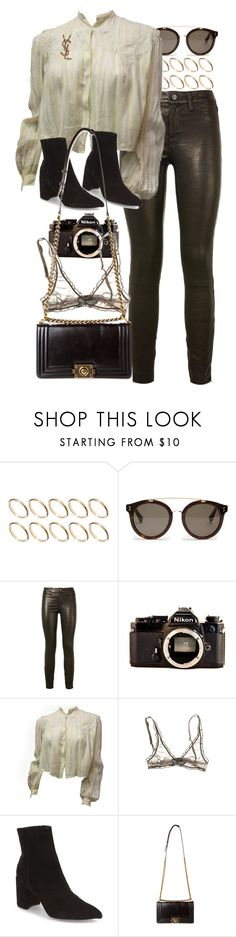 """""""Untitled #10487"""" by nikka-phillips ❤ liked on Polyvore featuring ASOS, STELLA McCARTNEY, J Brand, Nikon, Topshop, Chanel and Yves Saint Laurent"""