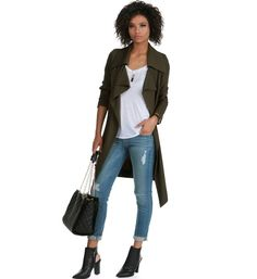 Pre-Order: Olive Mad Woman Trench Jacket