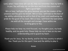 prayer for athletes Christian Prayers, Christian Kids, Football Prayer, Athletes Prayer, Professional Photo Lab, Win Or Lose, I Have Done, Christian Inspiration, A Blessing