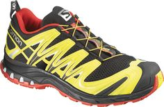 finest selection 63ab3 d9513 SALOMON XA Pro 3D in Black Canary Yellow Bright Red Salomon Shoes, Black