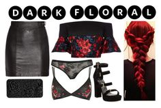 """Dark Floral"" by chiaral95 ❤ liked on Polyvore featuring Stuart Weitzman, Delpozo, Yves Saint Laurent and darkflorals"