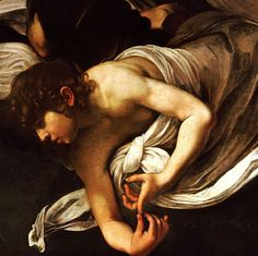 detail from The Inspiration of St. Matthew by Caravaggio // 1602