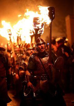 Vikings in full armour (Jane Barlow/PA)