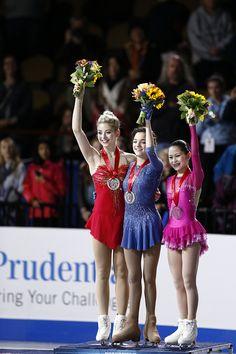 Evgenia MEDVEDEVA / Gracie GOLD / Satoko MIYAHARA
