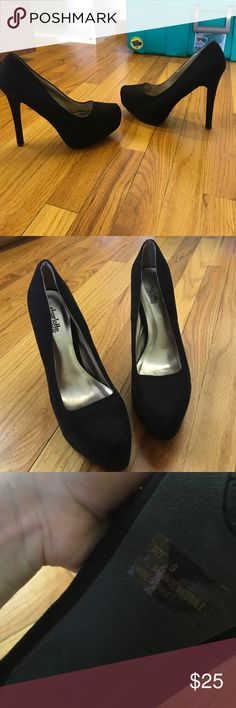 Black Platform Heels Sexy black platform heels only worn a handful of times. In great condition. Barely any scratches or damage to them due to how few times they've been worn. Kept in safe space to ensure condition Charlotte Russe Shoes Platforms