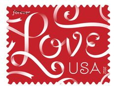 USPS love ribbons - forever stamps  Repinned by Annie @ www.perfectpostage.com