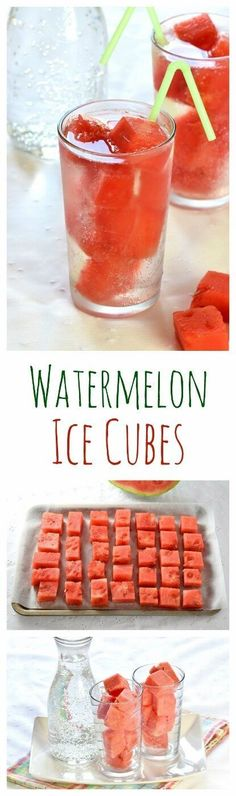 Watermelon Ice Cubes - a great way to stay cool this summer - kids will love…