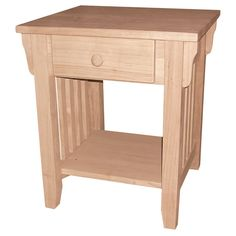 Have to have it. International Concepts Litchfield Mission End Table-RTA - $119 @hayneedle