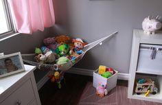 Toy Hammock, Organization Skills, Teaching Kids, Storage Solutions, Plush, Blanket, Chair, Toys, Furniture