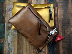 pochette pelle leather handbag clutch leather bag