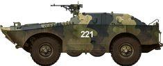 Camouflaged BRDM-1