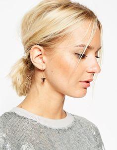Image 3 ofASOS Clean Arrow Through Earrings