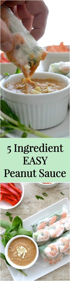 5 Ingredient Easy Peanut Sauce - The Fresh Find Easy Peanut Sauce, Peanut Sauce Recipe, Asian Cooking, Easy Cooking, Cooking Recipes, Healthy Dishes, Healthy Recipes, Healthy Food, Healthy Eating