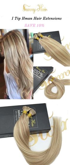 sunny hair i tip stick human hair extensions, blonde mixed piano color hair.https://g-sunny.com/collections/i-tip-hair-extension