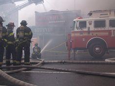 FDNY New York City Fire Department Action #Firefighter #firetruck Hose #Blaze #Emergency