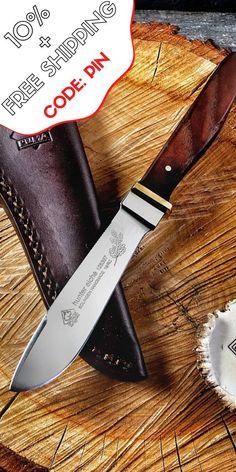 Puma tec cinturón cuchillo damascos-cuchillo damastmesser cuchillo de caza 71 lagen 269508
