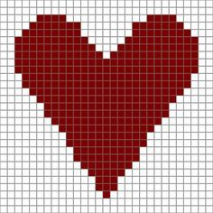 """Free Printable ♥ⓛⓞⓥⓔ♥ Heart Chart for Crochet or Needlecrafts. This screams: """"Make me into a pillow, please!"""" ...maybe some coasters to make up quick!"""