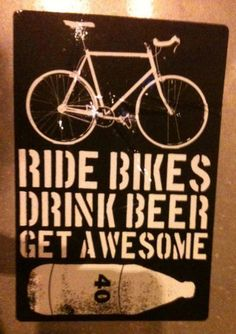 Bikes + beer = awesome.