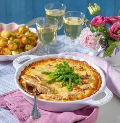 Kycklinggratäng med champinjoner, salami och ädelost   Året Runt