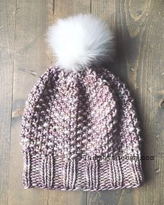 Ravelry: Seed/Moss Stitch Knitted Hat pattern by Dawn Regan