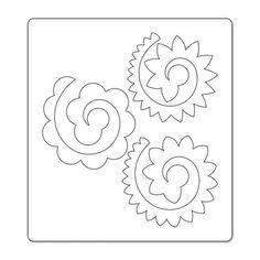 Risultati immagini per sagoma fiore pannolenci
