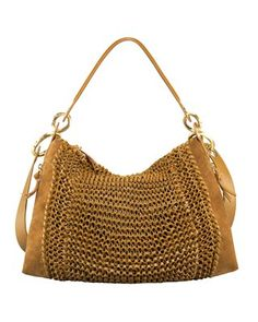 DVF | Kaitlin Knit Leather Hobo