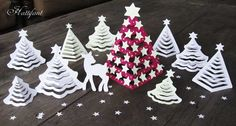 Hattifant - 3D Paper Christmas Trees Glow In The Dark