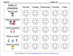 This is a great way for students to be accountable...wonder how it would work in 1st with a Daily 4 instead of 5? Willing to try it!