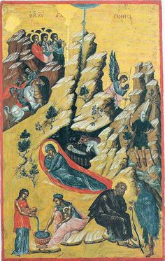 Icon - Nativity with Jesus' first bath   Flickr - Photo Sharing!