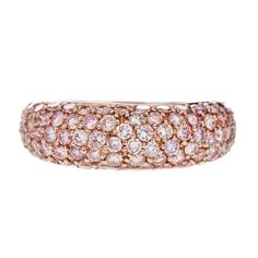 Natural Fancy Pink Diamond Ring | Handmade Natural Fancy Vivid Pink Diamond and Rose Gold Ring at ...