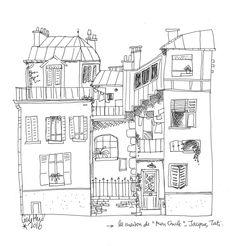 """La maison de """"mon Oncle"""" - Jacques Tati   by Cécile Hudrisier"""