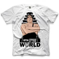 Get the Andre The Giant - Wonder Of The World T-shirt on Andre The Giant's official store Andre The Giant, Wonders Of The World, Official Store, Mens Tops, T Shirt, Fashion, Supreme T Shirt, Moda, Tee