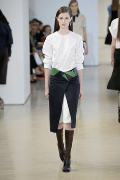 Skirt over trend Jil Sander Spring 2015 Source: Getty / Catwalking