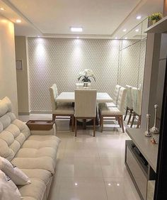 Small Living Room Ideas & Design on a Budget with Decoration Tips Small Apartment Decorating, Decorating Your Home, Decorating Ideas, Dinner Room, Small Living Rooms, Design Case, Pop Design, Dining Room Design, Small Apartments