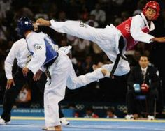 Tae Kwon Do memories of my children.and nno.they didn't kick each other :*) Karate, Taekwondo Techniques, Mma, London Summer Olympics, Bjj Memes, Fighting Poses, Gym Workout For Beginners, Olympic Sports, Olympic Games