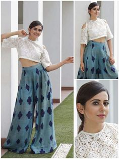 Rakul preet singh fashionable sewing in 2019 брюки палаццо, Indian Designer Outfits, Designer Dresses, Indian Dresses, Indian Outfits, Fashion Pants, Fashion Dresses, Fashion Tips, Traditional Outfits, Dress Outfits