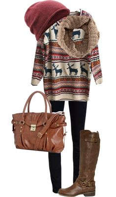 A fashion look from August 2012 featuring long sleeve tops, blue skinny jeans and riding boots. Browse and shop related looks. Holiday Outfits, Fall Winter Outfits, Winter Wear, Autumn Winter Fashion, Fall Fashion, Mode Style, Style Me, Outfit 2017, Looks Country