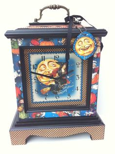 Beautiful altered clock with our new collection Happy Haunting straight from Diane Schultz's workshop! #graphic45